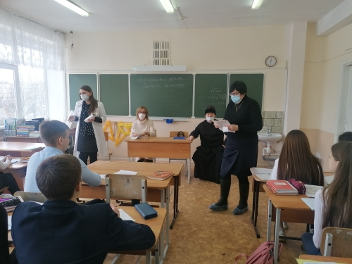 В рамках президентского гранта «Семья и счастье своими руками» цикл лекций для школьников.